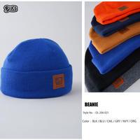 BLUCO(ブルコ)OL-206-021 BEANIE 6色(ブラック・ブルー・キャメル・グレー・ネイビー・オレンジ)