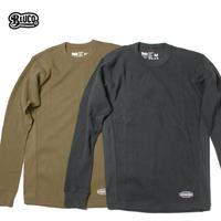 BLUCO(ブルコ) OL-014-18 2PACK THERMAL SHIRTS ブラック/コヨーテ