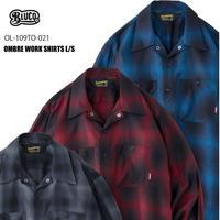 BLUCO(ブルコ) OL-109TO-021 OMB W.SHIRTS L/S 全3色(ブルー・グレー・レッド)