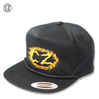 Cycle Zombies(サイクルゾンビーズ) FLAME BOY Snapback Hat ブラック