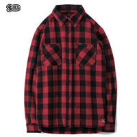 BLUCO(ブルコ) OL-048-019 HEAVY NEL SHIRTS -buffalo check-Red