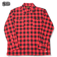 BLUCO(ブルコ)OL-048-018 BUFFALO CHECK SHIRTS レッド