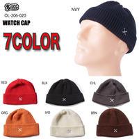 BLUCO(ブルコ)OL-206-020 WATCH CAP(全7色ブラック/アイボリー/グレー/ネイビー/ブラウン/オレンジ/レッド)
