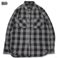 BLUCO(ブルコ) OL-048-019 HEAVY NEL SHIRTS -buffalo check-Gray
