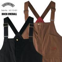 UNCROWD(アンクラウド) UC-115-021 DUCK OVERALL 2色(ブラック/ブラウン)