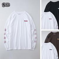 BLUCO(ブルコ) OL-806-021 PRINT L/S TEE'S-MEASURE- 全4色(ブラック・ブラウン・ホワイトxブラック・ホワイトxバーガンディ)