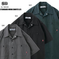 BLUCO(ブルコ)OL-108-020 STD WORK SHIRTS S/S 全3色(ブラック・グレー・ネイビー)