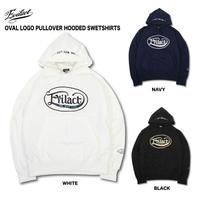 EVILACT(イーブルアクト) OVAL LOGO PULLOVER HOODED SWEATSHIRT ホワイト/ネイビー/ブラック