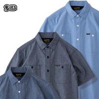 BLUCO(ブルコ)OL-121-021 CHAMBRAY WORK SHIRTS S/S 全3色(ブルー・ブラック・ネイビー)