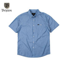 BRIXTON(ブリクストン)CENTRAL S/S WOVEN Heather Blue