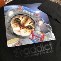 新作☆DJ-INAデザインTシャツ☆宇宙猫
