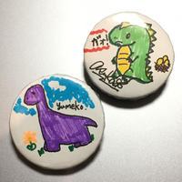 あすか & yumeko:缶バッジ「恐竜」《11/1@キャスラボ》【2個セット】