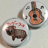 あすか:缶バッジ①:マングース/ギター【2個セット・特典付】《10/11@キャスラボ》