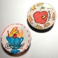 あすか & yumeko:缶バッジ「デザート」《11/1@キャスラボ》【2個セット】