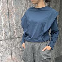 doux bleu フリルロングTシャツ