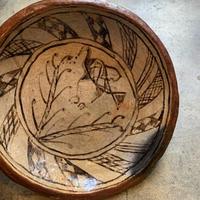 セジュナン焼き皿大 木と鳥