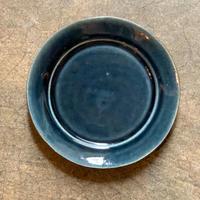 益子焼 ルリ釉 リム皿 M