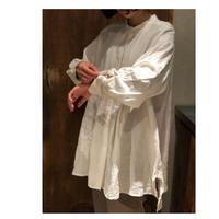 Hands of creation アンティークロイヤルL東炊きスタンドカラーAラインシャツ