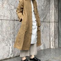 asabito リネンラグランステンカラーコート