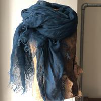 RIRI TEXTILE 刈安×藍染めストール