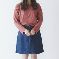 台形デニムスカート  P01-S011