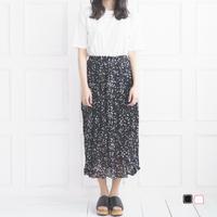 ドット風ロングスカート