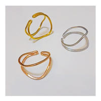 Happiness of the loop earcuff gold