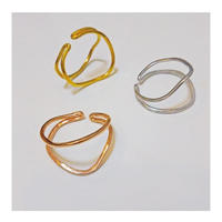 Happiness of the loop earcuff -pinkgold-
