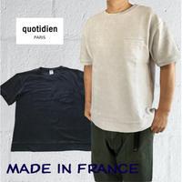 quotidien コティディアン PARIS ポケットTシャツ
