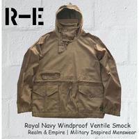 Realm & Empire レルム&エンパイア スモック プルオーバー アノラック イギリス海軍 ロイヤルネイビー Windproof Ventile Smock ベンタイルスモック