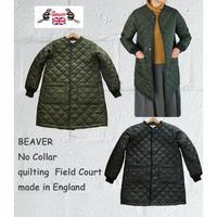 イングランド製 ビーバー オブ ボルトン ノーカラー キルティング フィールドコート ロングコート BEAVER No Collar quilting Field Court
