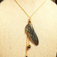 【トンボ】Dragonfly Necklace - Blue Gold -