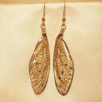 【蝉】Cicada Pierce -Glitter Gold -