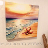 Hawaiian Chalk Art Canvas Paint -Plumeria on the Beach
