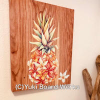 Hawaiian Chalk Art Canvas Paint -Pinapple Plumeria