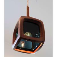 teak&glass pendant