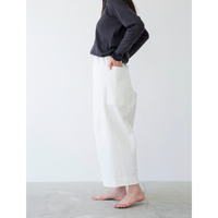 miho umezawa voile weather cloth cocoon wide pants short