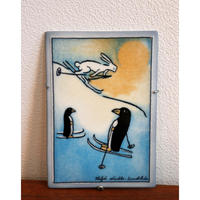 Arabia Helja Liukko Sundstrom wall plaque winter journey