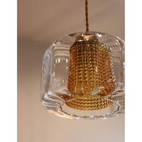 Swedish  double glass ceiling lamp