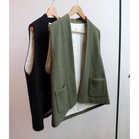 atelier naruse pure wool boucle vest