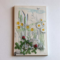 JIE Gantofta wall plaque 'meadow flowers'
