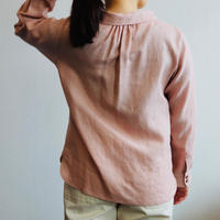 atelier naruse linen stand off collar blouse