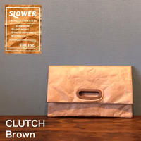 "SLOWER BAG ""CLUTCH"" Brown"