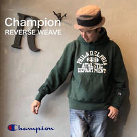 "Champion ""REVERSE WEAVE® 11.5oz PULLOVER HOODED  SWEAT"" Dk.Green"