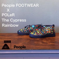 "POLeR × People FOOTWEAR ""The Cypress"" Rainbow"
