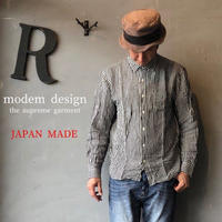 "modem design ""ギンガムチェックシャツ"""