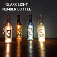 """GLASS LIGHT """"NUMBER BOTTLE"""""""