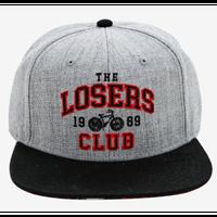"""【USA直輸入】 IT  イット """"それ""""が見えたら、終わり。 ルーザーズクラブ Losers Club ツバの裏  ペニーワイズ 柄  キャップ 帽子 ハット ホラー 映画  スナップバック"""