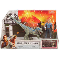 【USA直輸入】Jurassic World  ジュラシックワールド  ストーリー パック  ヴェロキラプトル ブルー & オーウェン・グレイディ アクション フィギュア 恐竜 クリス・プラット