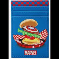 【USA直輸入】MARVEL マーベル・イート・ザ・ユニバース キャプテンアメリカ チーズバーガー カードホルダー カードケース 定期入れ マーベル ハンバーガー